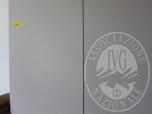 Immagine di Armadio in laminato grigio a 2 ante cm. 120x210 - UFFICIO 4