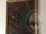 Immagine di OLIO SU TELA (112x74 CM.): LAVAGNA, FRANCESCO (NAPOLI, c. 1684-1724) e/o GIUSEPPE (NAPOLI   1724 CIRCA), 'NATURA MORTA DI FIORI E FRUTTA,  SULLO SFONDO DEL VESUVIO' (VEDI DOCUMENTAZIONE)