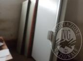 Banco frigo con banco cassa, Vetrina esposizione con cassetti, Piano lavoro in acciaio inox