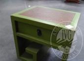 Liq. M.M. n. 7/2017 - Lotto 6: Coppia di comodini linea orientale con cassetto laccati verde
