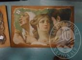 Liq. M.M. n. 7/2017 - Lotto 14MB: Frammento su legno cornice c50 x 40